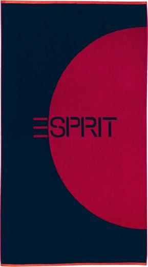Esprit Strandtuch »Circle Beach« (1-St), mit großem Logo