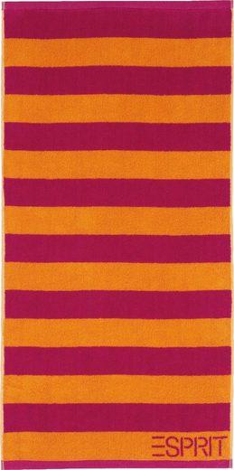 Esprit Handtuch »Block Stripe« (2-St), mit breiten Streifen