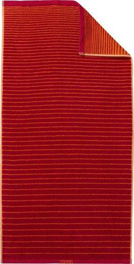 Esprit Handtuch »Grade« (2-St), mit Streifenverlauf