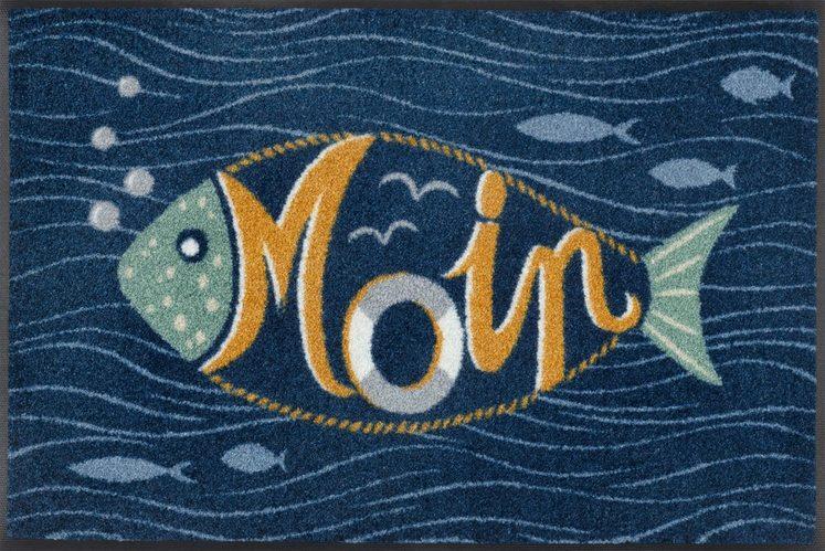 Fußmatte »Moin Bubbly«, wash+dry by Kleen-Tex, rechteckig, Höhe 7 mm, In- und Outddor geeignet