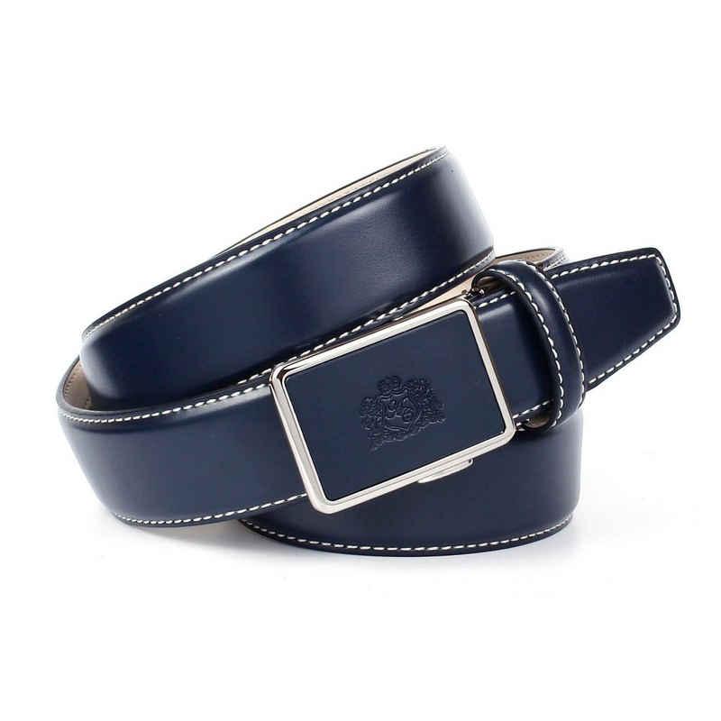 Anthoni Crown Ledergürtel mit Kontrast Stitching