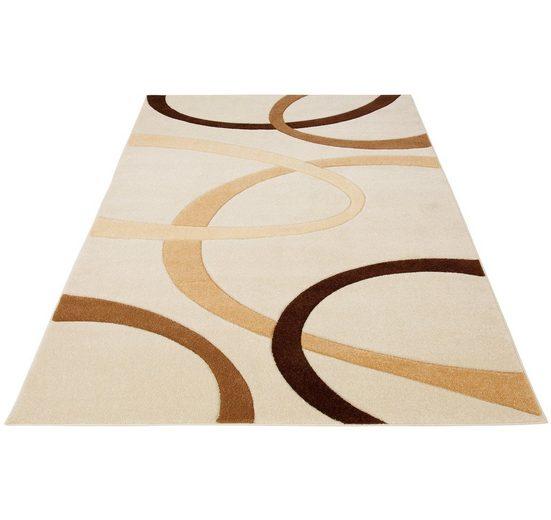Teppich »Bill«, my home, rechteckig, Höhe 10 mm, mit Handgearbeiteten Konturenschnitt