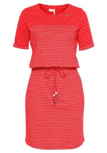 Ragwear Shirtkleid »NUGGIE« Streifen-Design trifft auf Dots
