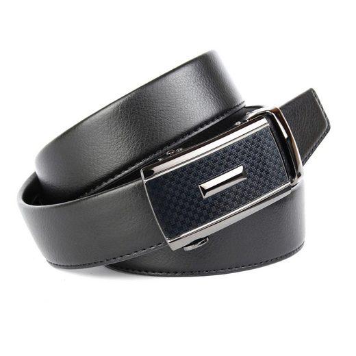 Anthoni Crown Ledergürtel Eleganter Gürtel in Hirschprägung und einzigartiger Schließtechnik