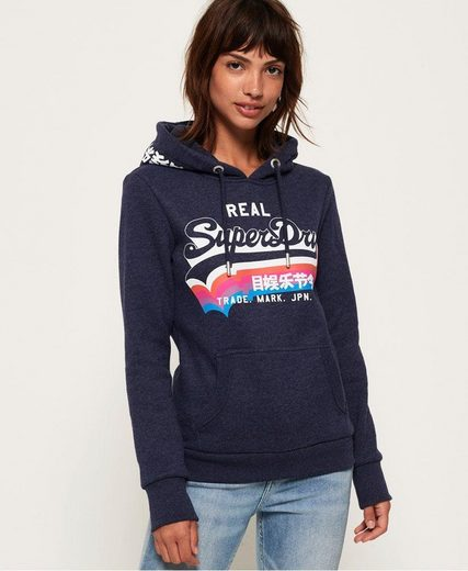 Superdry Kapuzensweatshirt »V LOGO RAINBOW ENTRY HOOD« mit Logoprint im Rainbow-Design
