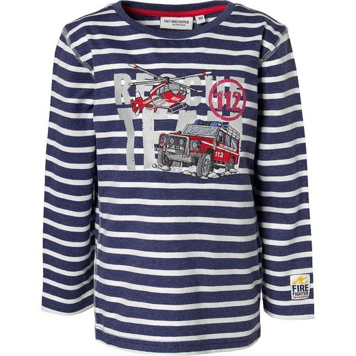 Salt & Pepper Langarmshirt für Jungen, Feuerwehr