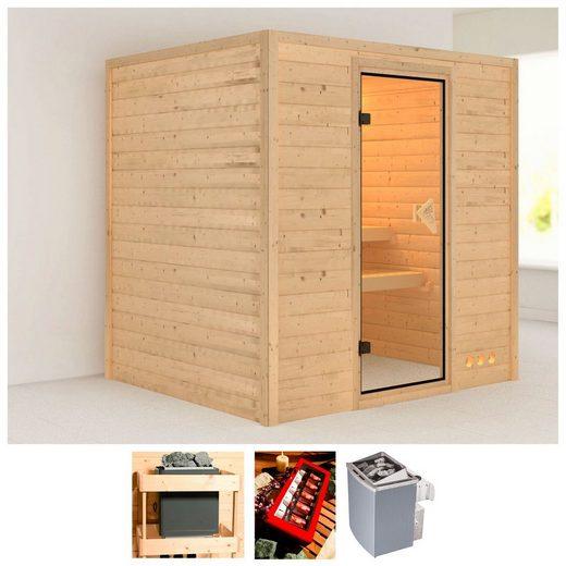 KARIBU Sauna »Anja«, 196x170x200 cm, 9 kW Ofen mit int. Steuerung