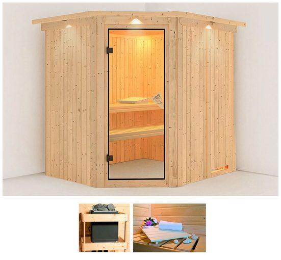 KARIBU Sauna »Holli«, 210x184x202 cm, ohne Ofen