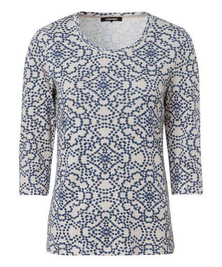 Olsen Print-Shirt mit Rundhals, aus Baumwolle