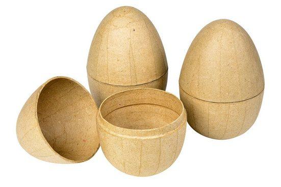 Pappmaché-Eier, teilbar, 3 Stück