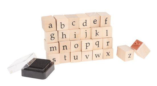 VBS Stempelset Kleinbuchstaben a-z + 1 Stempelkissen