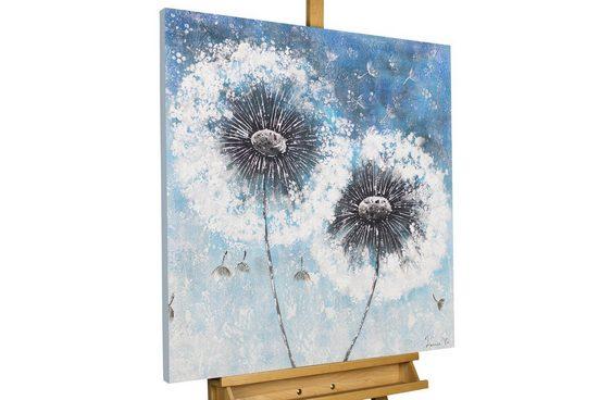 KUNSTLOFT Gemälde »Pompon Flowers«, handgemaltes Bild auf Leinwand