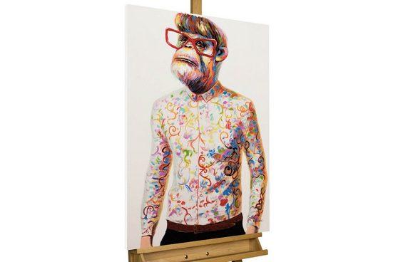 KUNSTLOFT Gemälde »Tier in mir«, handgemaltes Bild auf Leinwand