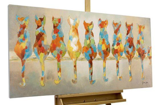 KUNSTLOFT Gemälde »Wartende Grazien«, handgemaltes Bild auf Leinwand
