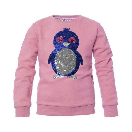 REVIEW for Kids Sweatshirt mit Wendepailletten für Mädchen, Pinguin