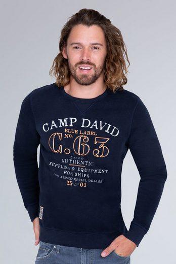 CAMP DAVID Sweater mit angerauter Innenseite