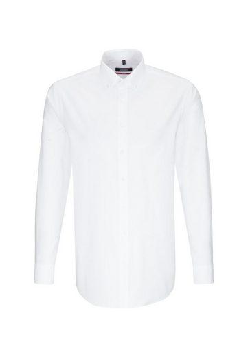 seidensticker Businesshemd »Regular« Regular Langarm Button-Down-Kragen Uni