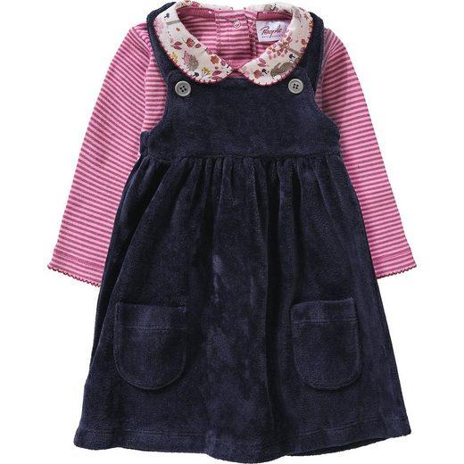 People Wear Organic Baby Set Samtkleid + Langarmbody, Organic Cotton