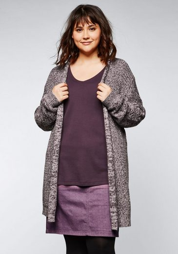 Sheego Longstrickjacke
