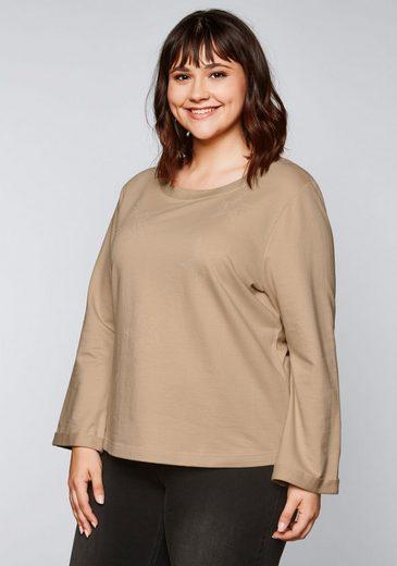 Sheego Sweatshirt in A-Linie