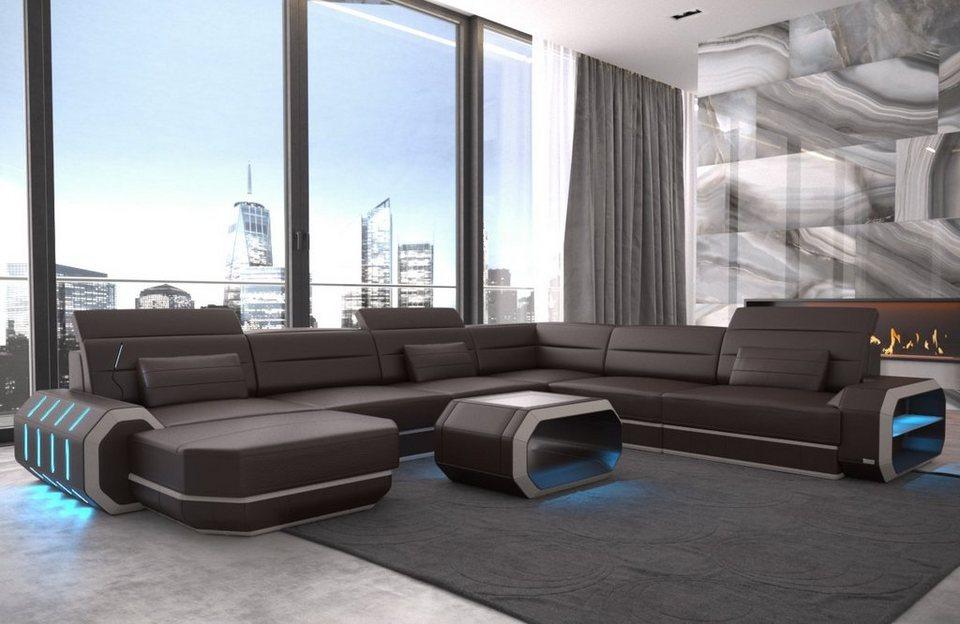 Sofa Dreams Wohnlandschaft Roma U Form Xxl