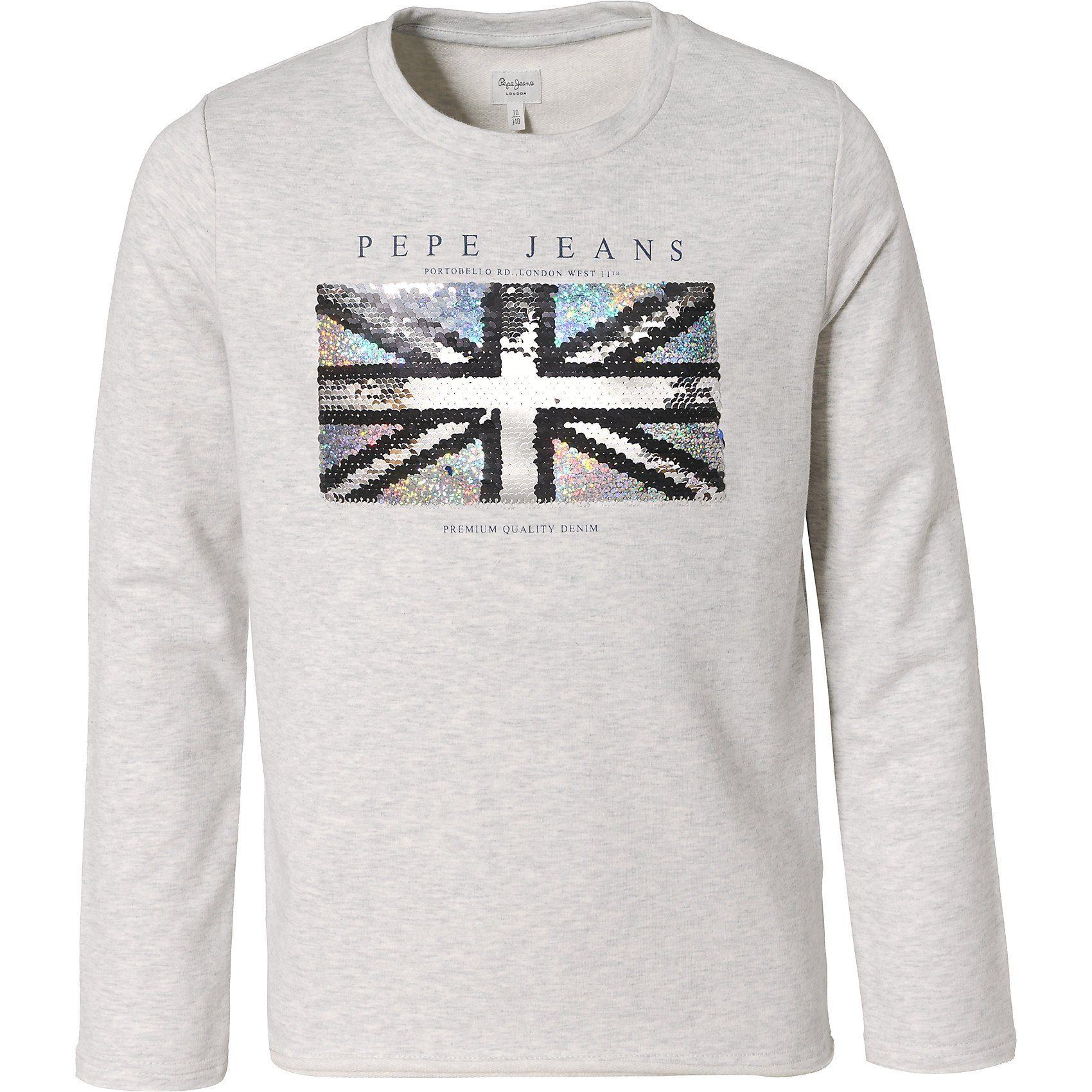 Damen,  Mädchen,  Kinder Pepe Jeans Sweatshirt BOBBY für Mädchen grau   08434786510330