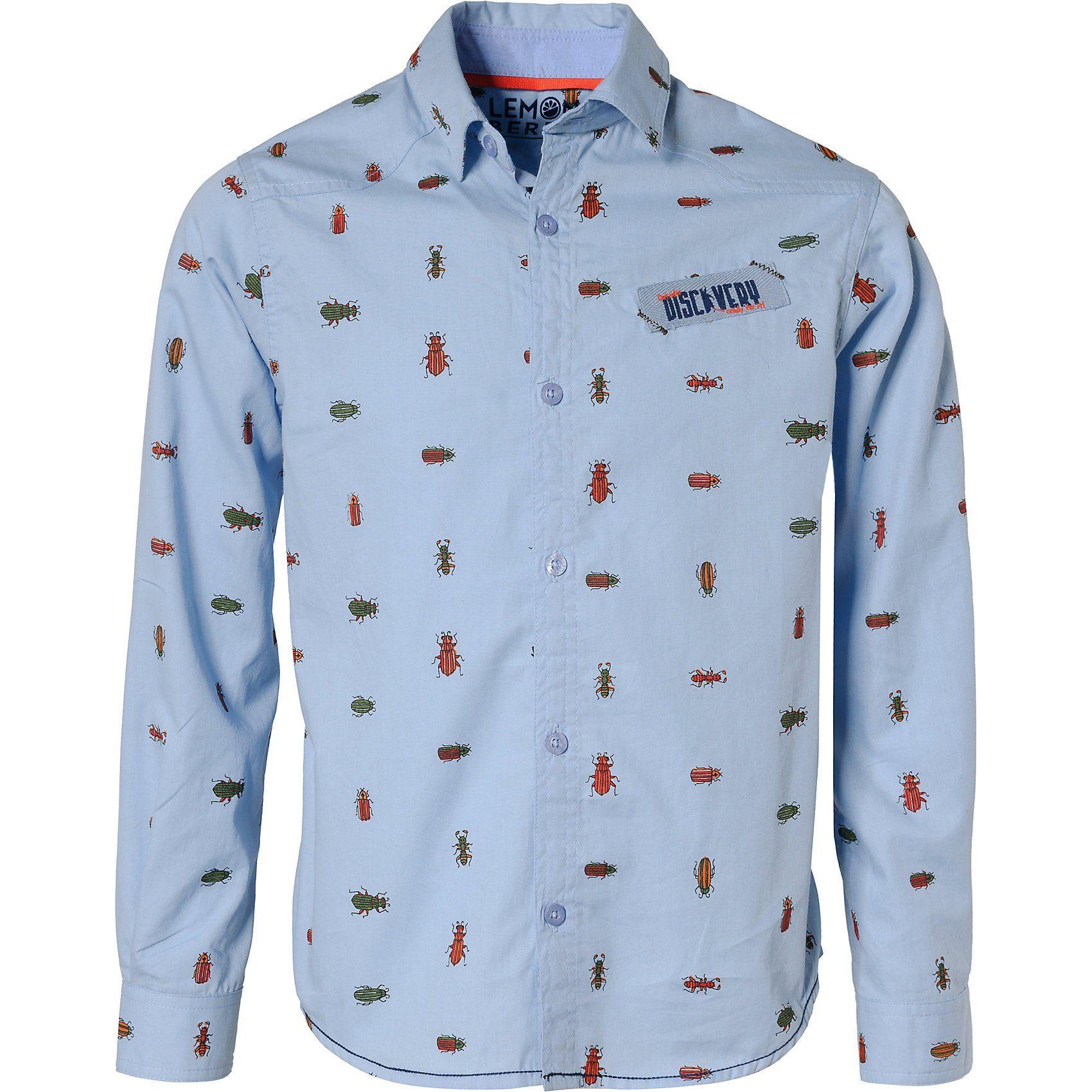 Herren,  Jungen,  Kinder LEMON BERET Langarmhemd für Jungen blau   05400823212249