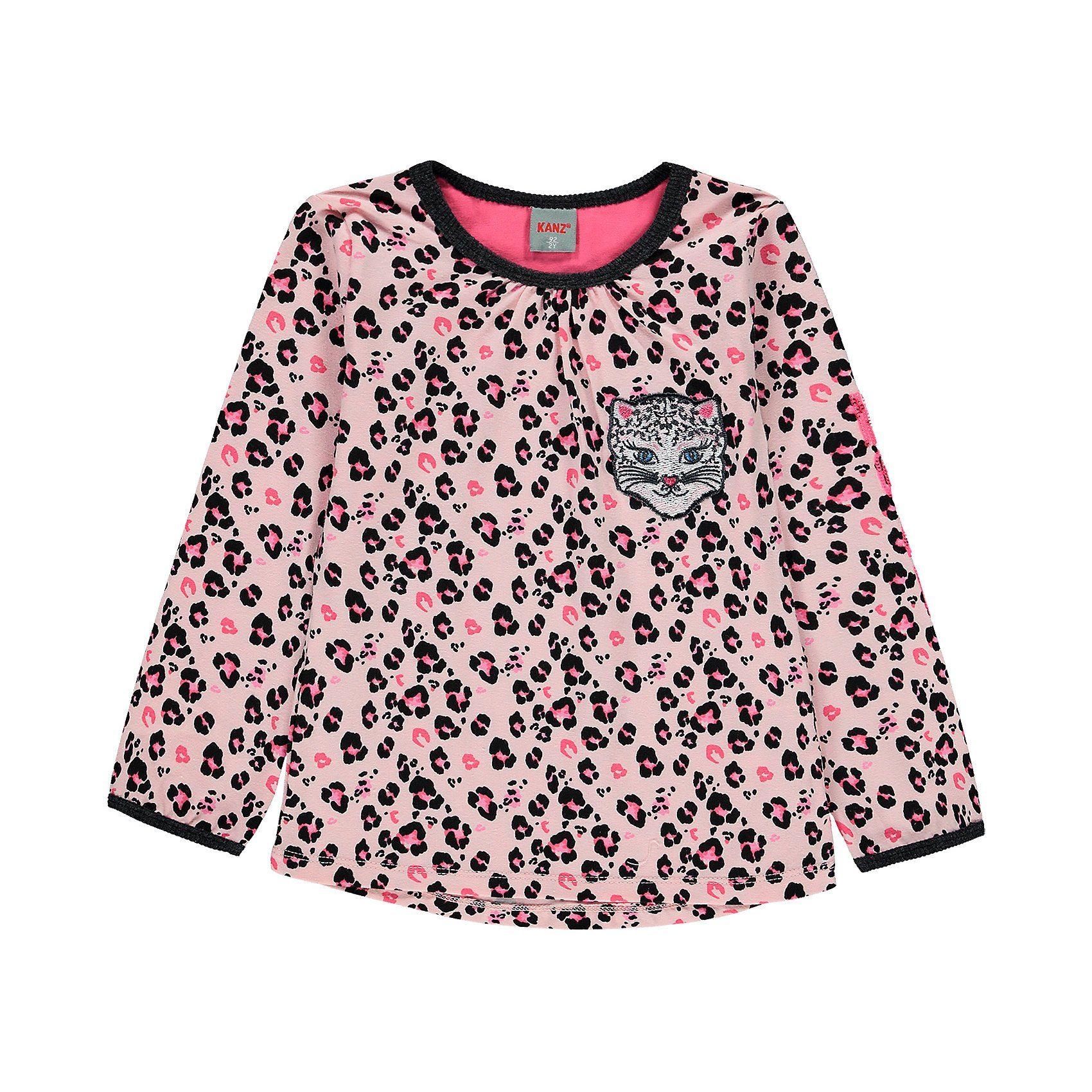 Damen,  Mädchen,  Kinder Kanz Langarmshirt für Mädchen bunt,  mehrfarbig, rosa | 04062108065622