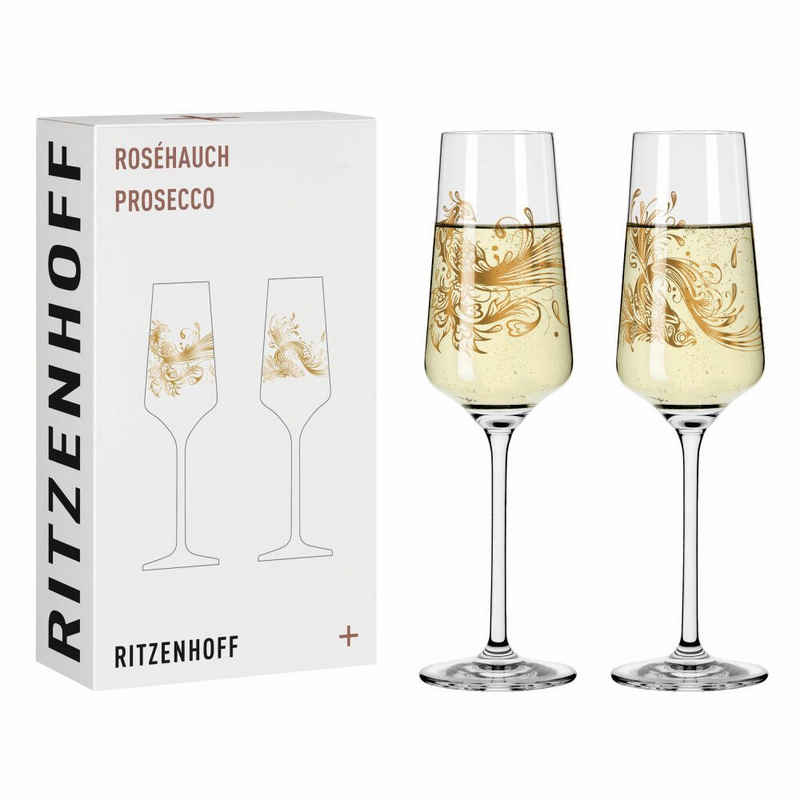 Ritzenhoff Sektglas »Roséhauch Prosecco 2er-Set 001«, Kristallglas, Made in Germany