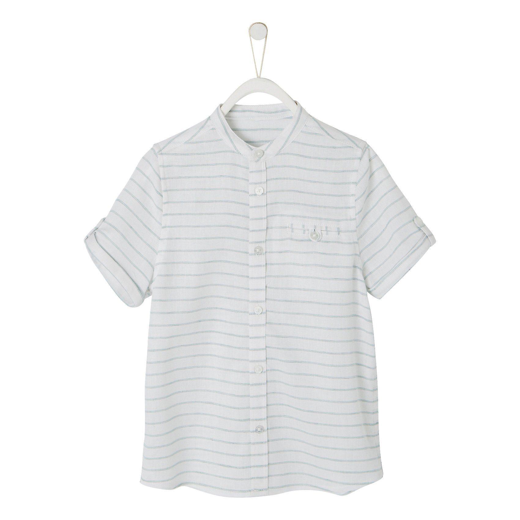 Herren,  Jungen,  Kinder vertbaudet Langarmhemd für Jungen weiß   03611652911384