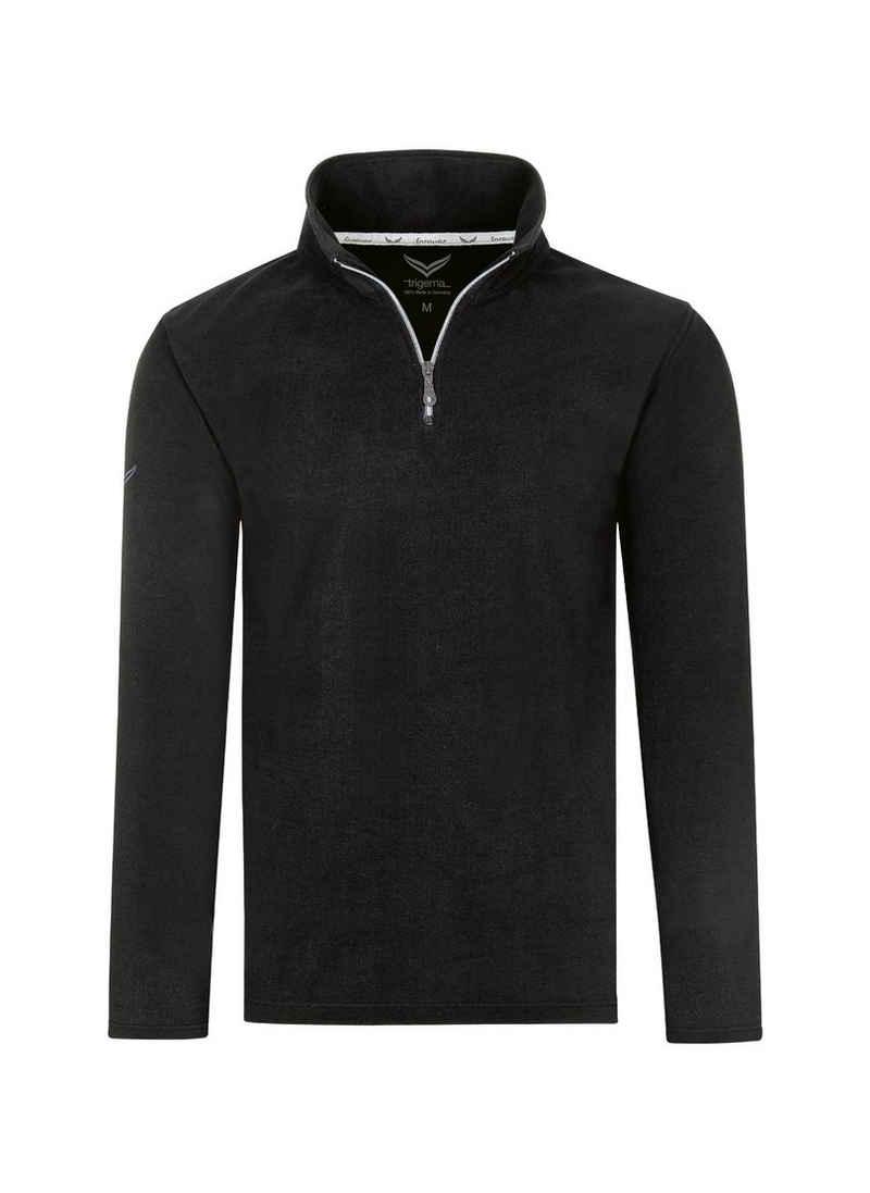 Trigema Strickfleece-Pullover mit Reißverschluss