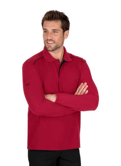 Trigema Langarm-Poloshirt aus Biobaumwolle