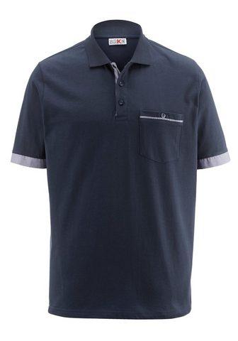 ROGER KENT Polo marškinėliai su Kontrastverarbeit...