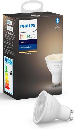Philips Hue »White Einzelpack 1x400lm« LED-Leuchtmittel, GU10, 1 Stück, Warmweiß