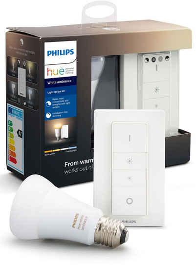 Philips Hue »White Ambiance LightRecipe Kit Dimmschalter« LED-Leuchtmittel, E27, Warmweiß, Tageslichtweiß, Neutralweiß, Extra-Warmweiß