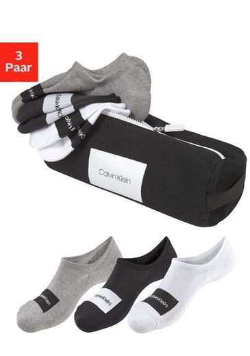 Calvin Klein Sneakersocken (Beutel, 3-Paar) mit Markenschriftzug