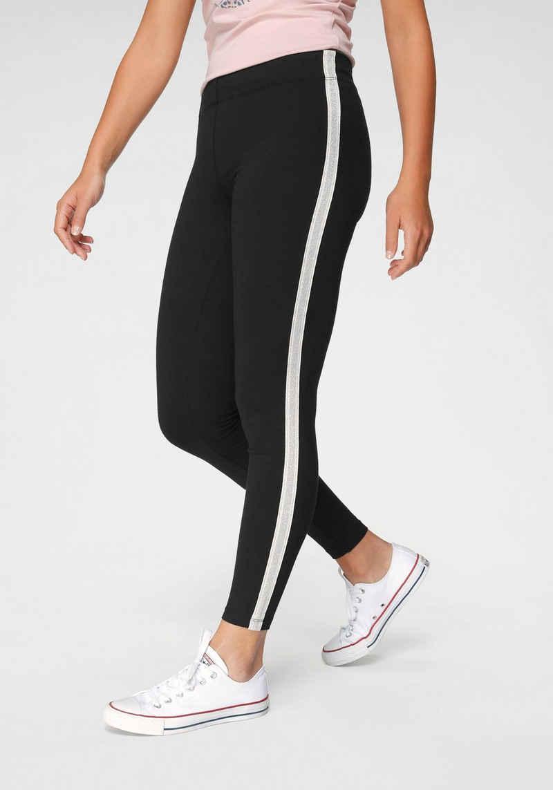 Ocean Sportswear Leggings mit Seitenstreifen in Metallic-Optik