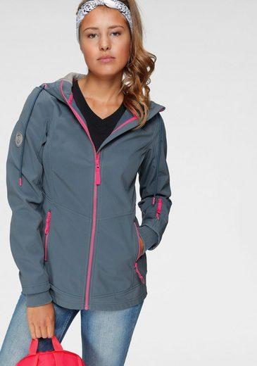 Ocean Sportswear Softshelljacke mit Kontrastdetails