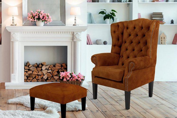 Premium collection by Home affaire Chesterfield-Sessel »Bedfort«, in edler Chesterfield-Optik in 2 Bezugsqualitäten