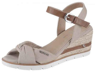 Damen Sandaletten Echtleder Keilabsatz Schnalle Sommerschuhe Elegant Modisch