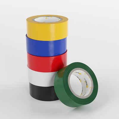 HEITECH Isolierband »PVC Isolierbänder 6er Pack - Isolierband 19 mm x 5 m in 6 verschiedenen Farben - 6 Rollen Elektro Isolierband - Isoband Elektriker Klebeband - Dichtungsband«