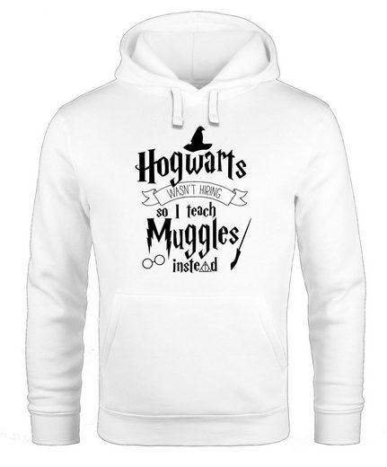 MoonWorks Hoodie »Hoodie Herren Hogwarts wasn't hiring so I teach muggles instead Lehrer Spruch Kapuzen-Pullover Moonworks®«