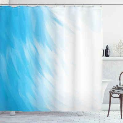 Abakuhaus Duschvorhang »Moderner Digitaldruck mit 12 Haken auf Stoff Wasser Resistent« Breite 175 cm, Höhe 180 cm, Abstrakt Wellen bewölktem Himmel