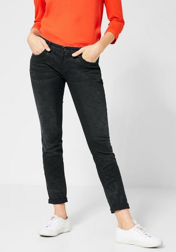 STREET ONE Comfort-fit-Jeans mit Schlangen Optik