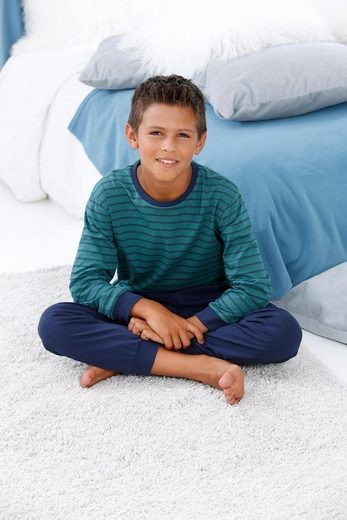 le jogger® Pyjama, mit gestreiftem Oberteil