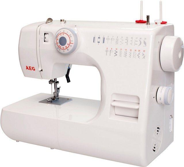 AEG Nähmaschine AEG 12K, 22 Programme, mit Zubehör | Flur & Diele > Haushaltsgeräte > Strick und Nähmaschinen | AEG