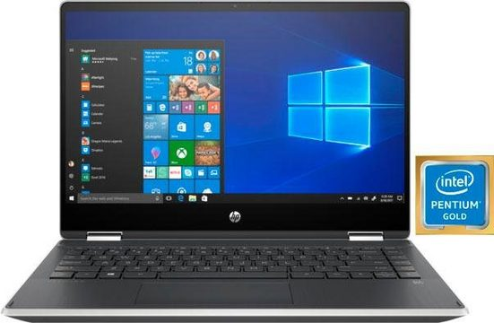 HP Pavilion x360 14 dh0222ng Notebook (35,56 cm/14 Zoll, Intel Pentium Gold, UHD Graphics 610, 256 GB SSD)