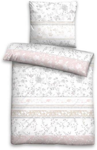 Bettwäsche »Isabel«, Biberna, mit floralem Muster