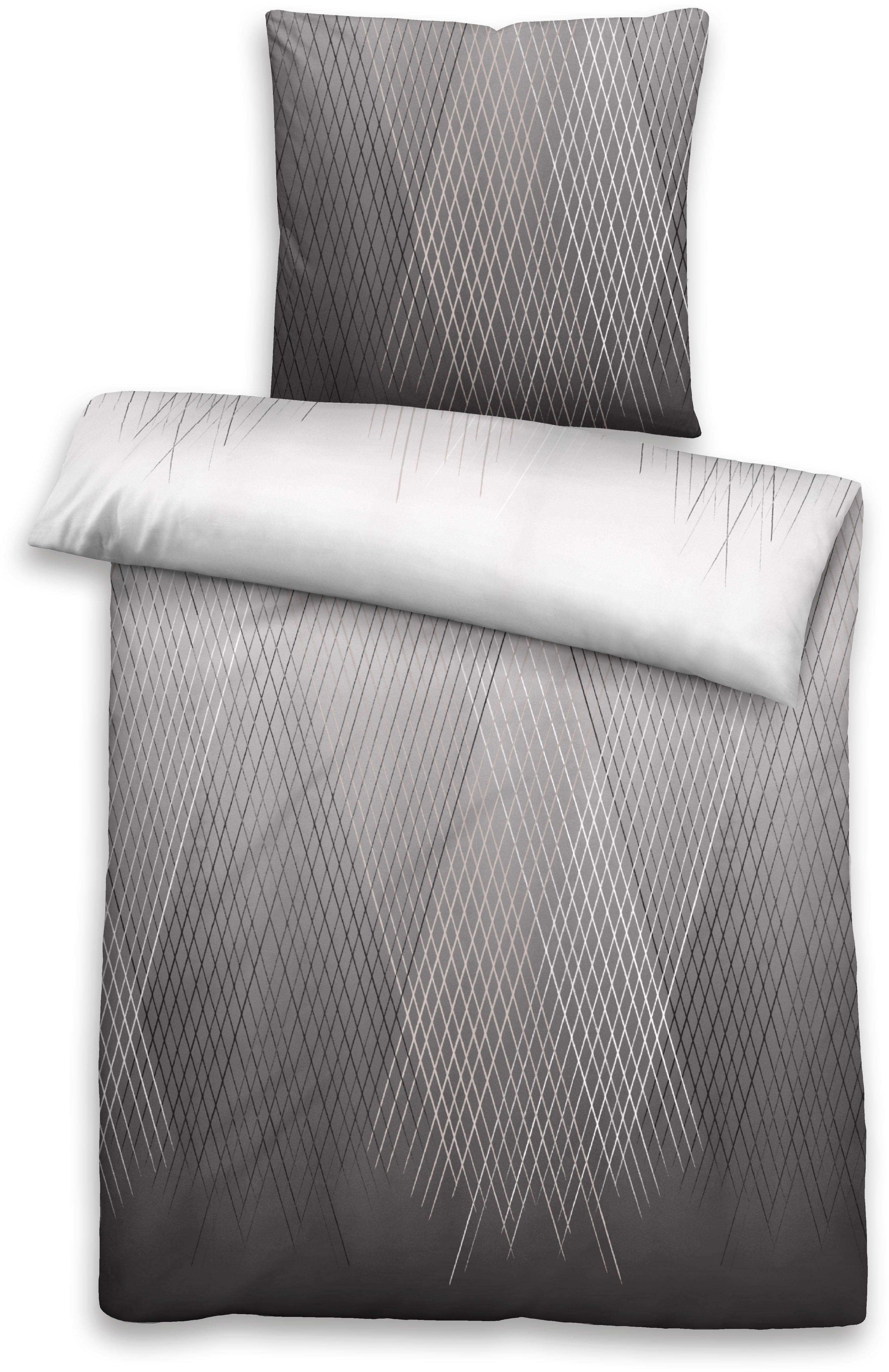 Castell Microfaser Satin Bettwäsche Set 2-tlg Bettbezug Ciel 155 x 200 80 x 80
