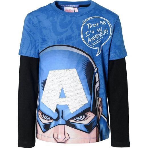 Desigual Marvel Avengers Langarmshirt mit Wendepailletten für Jungen
